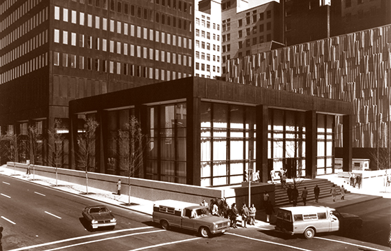 historic photo of bankers trust office
