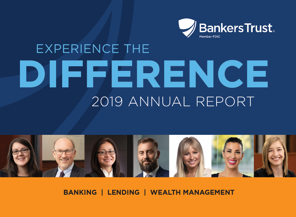 Bankers Trust 2019 Annual Report front cover
