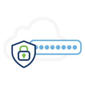cloud, shield and security graphic