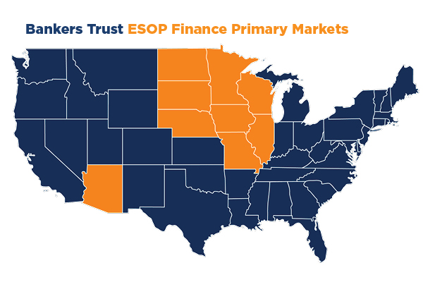 ESOP Finance Primary Markets - Midwest and AZ